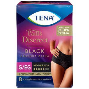 Roupa-Intima-Tena-Pants-Discreet-Black-Tamanho-G-EG-8-Unidades