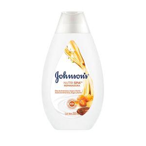 Locao-Hidratante-Corporal-Johnson-s-Nutri-Spa-Reparadora-Oleo-de-Amendoas-Argan-e-Karite-200ml