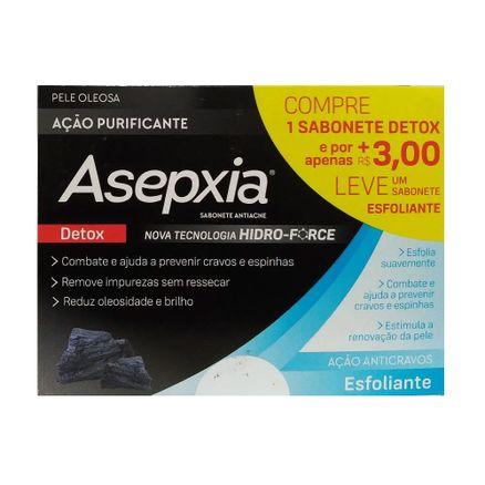 Kit-Sabonete-Asepxia-Detox-Acao-Purificante-80g---R--300-Leve-Sabonete-Esfoliante-80g
