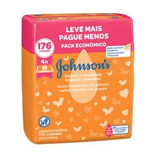 Lenco-Umedecido-Johnson-s-Baby-Limpeza-e-Suavidade-Leve-Mais-Pague-Menos-176-Unidades