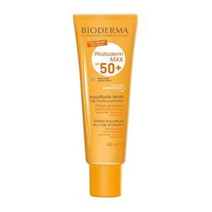 Protetor-Solar-Photoderm-Max-FPS-50--Aquafluide-Toque-Seco-Cor-Dourado-40ml