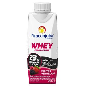 Bebida Láctea Piracanjuba Whey Zero Lactose Sabor Frutas Vermelhas 250ml