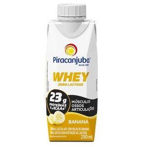 Bebida Láctea Piracanjuba Whey Zero Lactose Sabor Banana 250ml