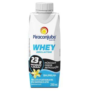 Bebida Láctea Piracanjuba Whey Zero Lactose Sabor Baunilha 250ml