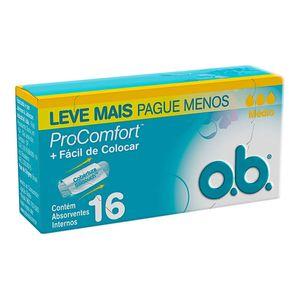 Absorvente-Interno-OB-ProComfort-Medio-16-Unidades-Leve-Mais-Pague-Menos