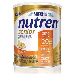 Nutren Senior Zero Lactose Sem Sabor 740g