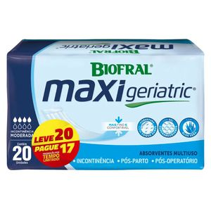 Absorvente-Geriatrico-Biofral-Maxi-Geriatric-Leve-20-Pague-17-Unidades
