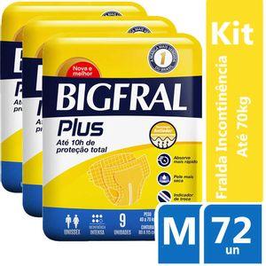 Kit-Fralda-Geriatrica-Bigfral-Plus-M-72-unidades-