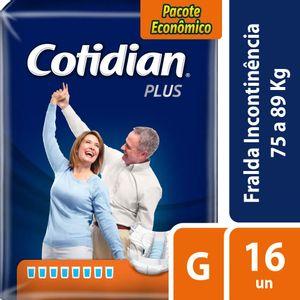 Fralda Geriátrica Cotidian Plus G 16 Unidades