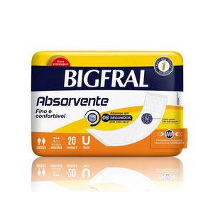 Absorvente Geriátrico Bigfral Bigmaxi Super 20 unidades