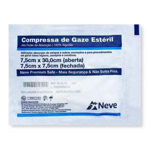 compressa-de-gaze-esteril-13-fios-neve-100-algodao-7-5cm-x-30cm-aberta-5-unidades