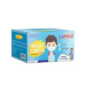 mascara-descartavel-infantil-luimed-com-elastico-cor-azul-50-unidades
