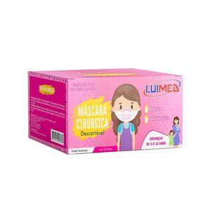 mascara-descartavel-infantil-luimed-com-elastico-cor-rosa-50-unidades