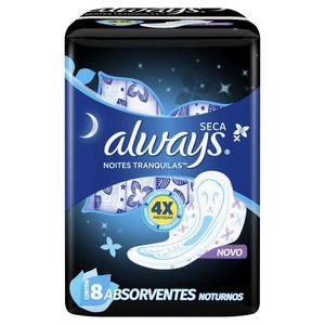 absorvente-always-noites-tranquilas-cobertura-seca-abas-leve-8-pague-7-unidades
