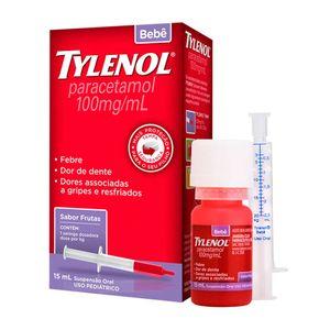 Tylenol-Bebe-100mg-Suspensao-Oral-Sabor-Frutas-15mL