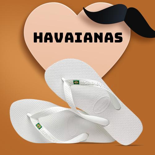 SANDÁLIAS HAVAIANAS BRASIL BRANCO 39/40