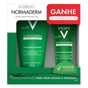 Gel-de-limpeza-Vichy-Normaderm-Pele-Mista-a-Oleosa-Compre-150g-Ganhe-40g